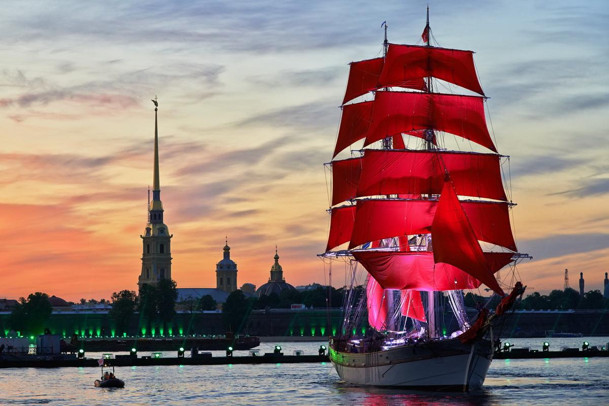 Санкт-Петербург корабль закат  № 3945072  скачать